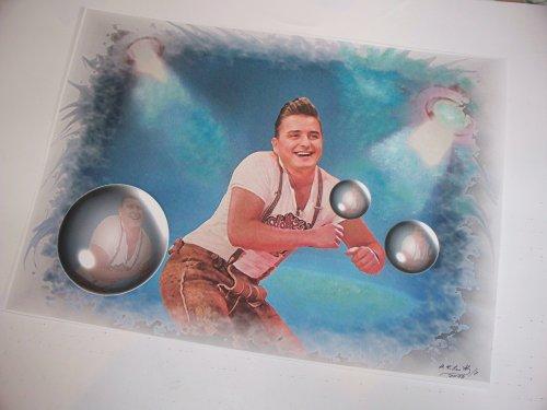 Andreas Gabalier ein hervorragender Kunstdruck -direkt vom Künstler 30cm x42cm