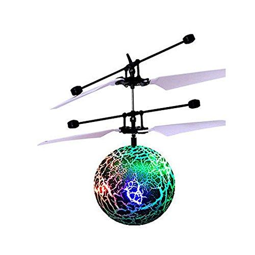 RC Fliegender Ball Spielzeug, Infrarot-Induktions-Hubschrauber, Drohne mit bunt leuchtendem LED-Licht und Fernbedienung für Kinder, Geschenke für Jungen und Mädchen, Indoor-und Outdoor-Spiele (B)