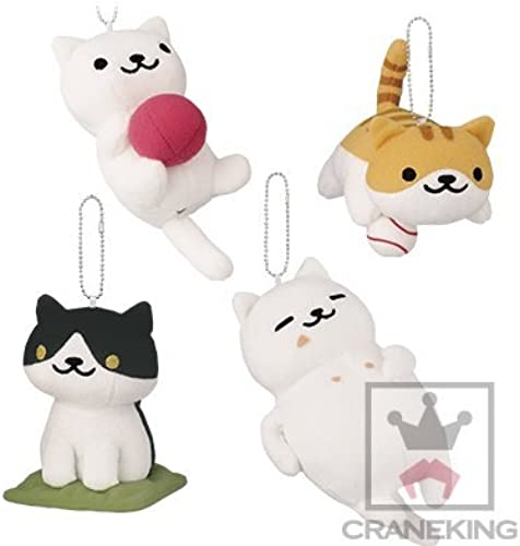 Cat collect huge stuffed all four set to be attached to the bag