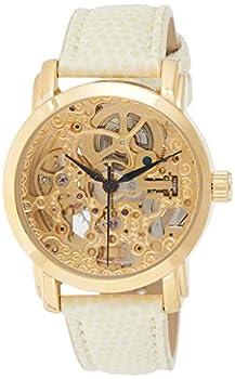 Akribos XXIV Women s AKR431YG Gold Swiss Automatic Skeleton Watch