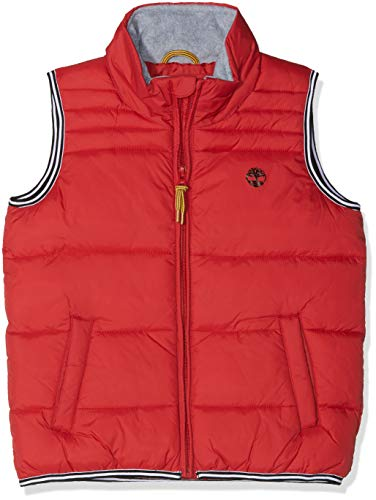 Timberland Jungen Doudoune SANS Manches Ärmellose Weste, Rot (Sport RED), 4 Jahre