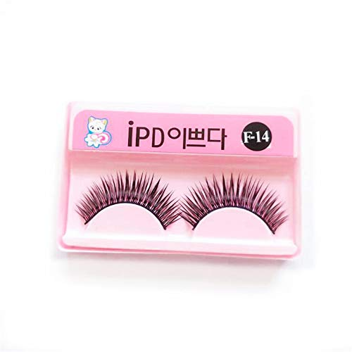 100% Handmade Fake Eyelashes Extension Supplies 10 Pairs Wholesale Korean Silk Natural False Eyelashes Daily Make Up