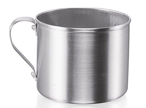 IMUSA USA R200-12W Aluminum Mug for Stovetop Use or Camping 1.25-Quart, Silver