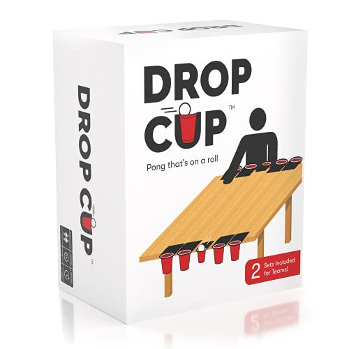 Drop Cup - Pong That's On A Roll - Family Friendly Party Game - Adult Party Game