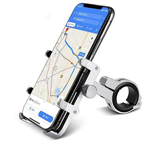 Handy Halterung von HOMEASY Fahrradhalterung Handy-Halter Universal Handyhalterung 360° Drehbare Radsport Verhütung GPS Halter (Silber)