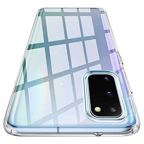 Spigen Liquid Crystal Hülle Kompatibel mit Samsung Galaxy S20 -Crystal Clear