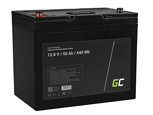 Green Cell® LiFePO4 Akku (50Ah 12.8V 640Wh) Batterie Marina 12V Photovoltaikanlage BMS für Reisemobil Wohnmobil Caravan Boat Boot Golfwagen Trolley jachht Segelboot Schiffen Solarbatterie