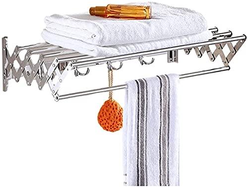 SSHA Tendedero De Pared Ropa de Secado de Ropa,Montaje en Pared Acordeón Ropa retráctil expandible Rack de Secado de Aire Grande for lavandería Cuarto de baño Tendedero Plegable Pared (Size : 60cm)