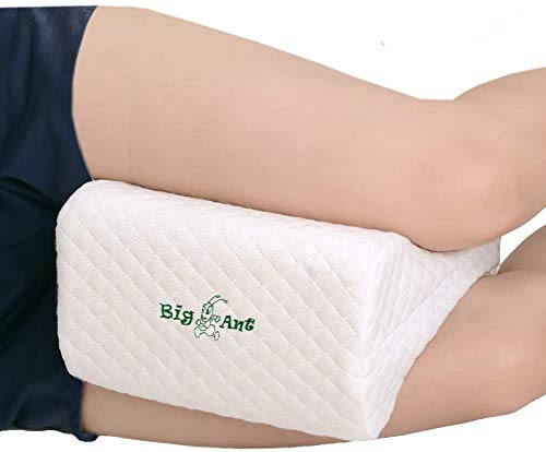 HEWEI Big Ant knee pillow best for lower legs back and knees - leg cushions Memory Foam Wedge Contour leg cushions with washable cover