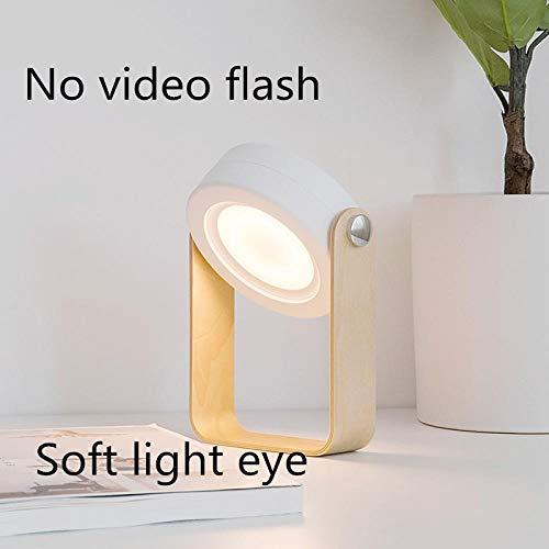 Nachtlampje Vouwen led Bureaulamp Opladen USB Nachtlampje Slaapkamer Licht Nachtlampje Leeslamp Buiten Licht-Wit