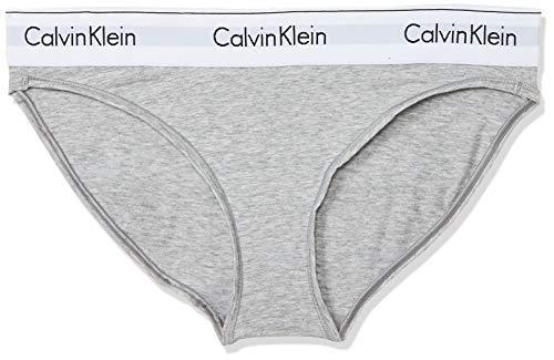 Tommy Hilfiger Modern Cotton-Bikini Ropa interior, Gris (GREY HEATHER 020), M para Mujer