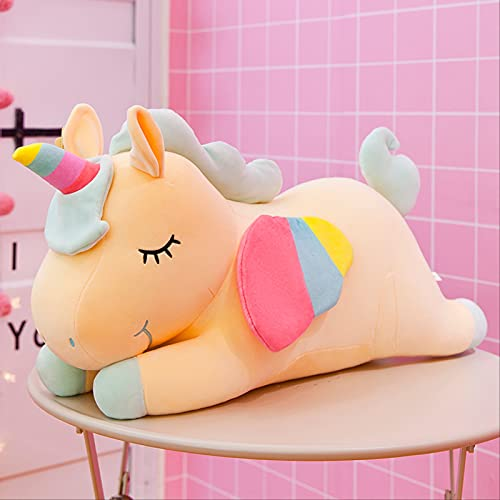 Peluches 50cm Unicornio De Peluche De Juguete Kawai Unicornio De Peluche Suave Muñeca Suave Animal Caballo Juguete Niños Niña Almohada Regalo De Cumpleaños