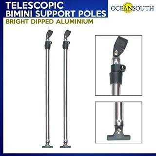 Oceansouth Telescopic Bimini Top Support Poles Aluminium 2' - 4' w/mounts fits Most Frames