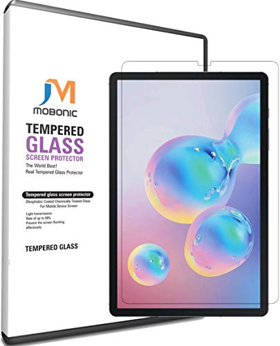 Mobonic® Samsung Galaxy Tab S6 (2019) Screen Protector Glass Guard, [10.5 Inch] [Anti-Scratch][Easy Installation][Bubble Free] Tempered Glass for Samsung Galaxy Tab S6 10.5 (2019) SM-T860 SM-T865