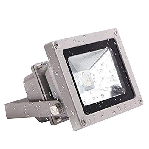 Uonlytech - Foco LED de 10 W, resistente al agua, muy brillante, para exteriores, de trabajo, paisaje, de pared