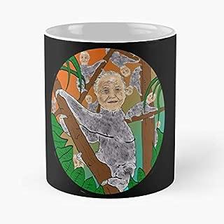 Sloth David Attenborough Pop - Handmade Funny 11oz Mug Best Holidays Gifts For Men Women Friends.