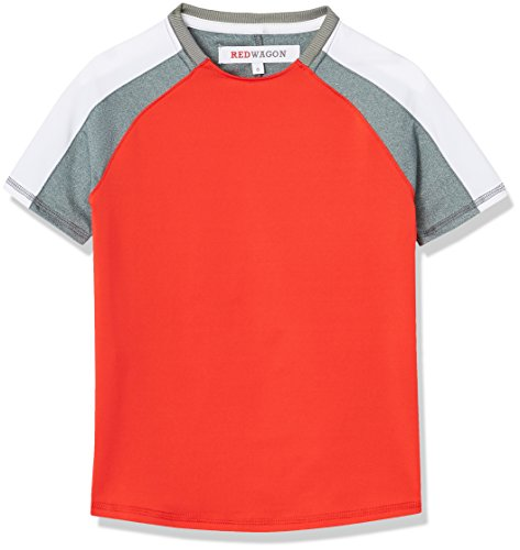 Amazon-Marke: RED WAGON Sport Top Jungen, Rot (Sport Red/Grey Marl/White), 116, Label:6 Years