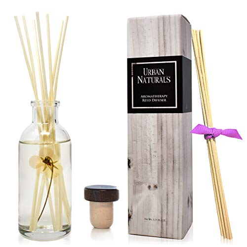Urban Naturals Plumeria & Rosewood Reed Diffuser Set | Fragrance Oil Notes: Hawaiian Frangipani, Citrus, Plumeria, Jasmine & Rosewood | A Sensual Floral Fragrance Made with Essential Oils | USA Made