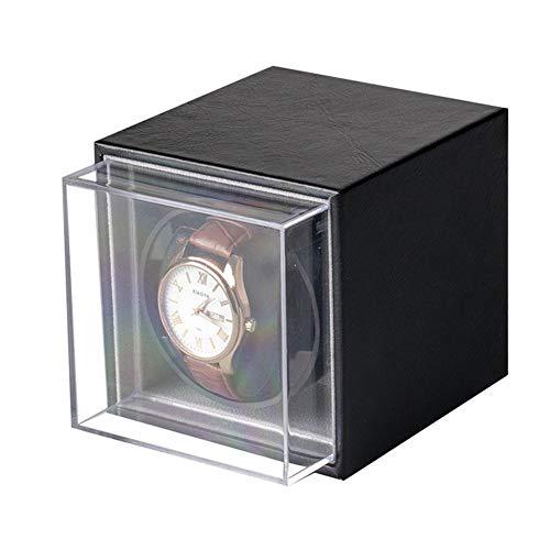 Cajas giratorias Reloj Mecánico Automático Winder Motor Box Ajustable Bobinado Eléctrico Caja De Recolección Reloj Winder Winder Accesorios(Color:Negro)
