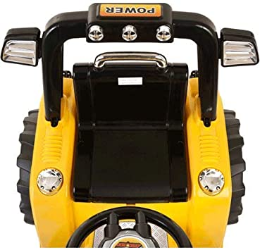 Epicstuff UK TWIN MOTOR TRACTOR 12V KIDS ELECTRIC RIDE ON TRACTOR WITH RC Yellow