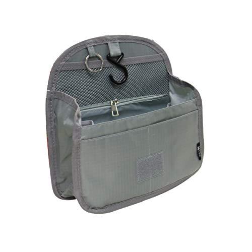 バッグインバッグ リュックインバッグ 軽量 縦型 大容量 キーリング小さめ 大きめ 整理 収納 バッグ メッシュ ポケット トラベルポーチ インナーバッグ リュック (L, グレー)
