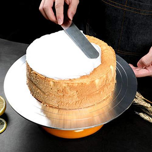 LONSID Aluminiumlegierungs-Kuchen, der Drehscheibe für Kuchen, Aufbau mit glattem Lager und rutschfestem Silikonboden, Berufsqualitäts-Backen-Werkzeuge verziert