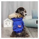 Z-Y Perro Ropa Ropa de abrigo de invierno ropa caliente del perro del animal doméstico por la chaqueta a prueba de viento Parkas perrito for los pequeños perros Chihuahua Francés Bulldog Ropa