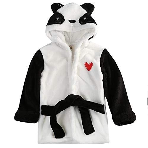 2t Black Cute Hooded Baby Infant Girl Boy Cotton Bath Towel Wrap Bathrobe Cute Cartoon Mouse/Panda/Bunny Design Bath Robes 1-5y