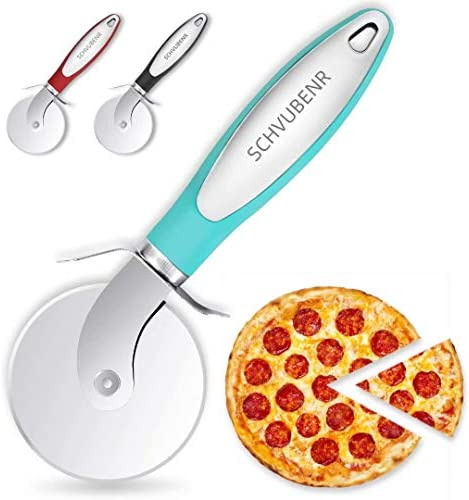 SCHVUBENR Premium Pizza Cutter Stainless Steel Pizza Cutter Wheel Easy to Cut and Clean Super product image
