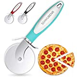 SCHVUBENR Premium Pizza Cutter - Stainless Steel Pizza Cutter Wheel - Easy to Cut and Clean - Super Sharp Pizza Slicer - Dishwasher Safe - Handles Large and Small Pizza - Corte De Pizza(Blue)