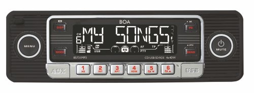 Dietz 85731MP3 Retro Auto Radio (CD-RW, SD-Kartenslot, RDS, AUX-IN, USB) schwarz