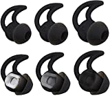3 Pairs (S, M, L) Replacement Noise Isolation Earbuds with Extra Layer Comfort Eartips Compatible with Bose QC20 QuietControl20i SIE2 SIE2i IE2 IE3 in-Ear Soundsport Wireless Earphones (Black+Case)