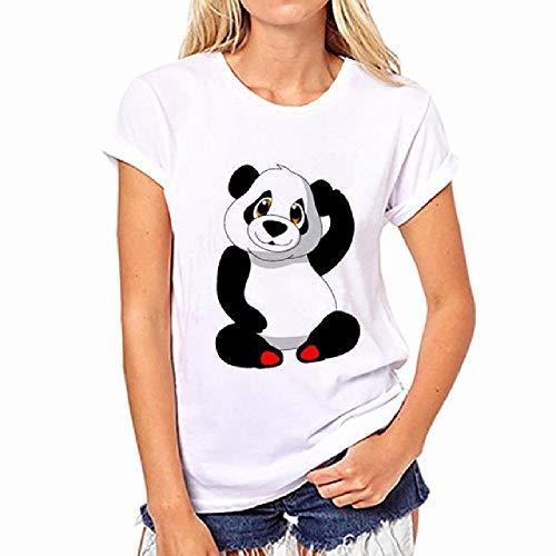 Nette Panda Muster Frauen Sommer T-Shirt Mode Frau Kurzarm Lose Pullover Tops Casual Harajuku T-Shirt
