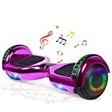 FLYING-ANT Hoverboard with Bluetooth, 6.5 Inch Flashing Light Wheels Self Balancing Hover Boards(Chrome Purple)