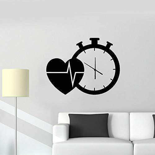 Calcomanía De Pared Con Forma De Corazón, Reloj Cardiovascular, Salud, Medicina, Decoración...