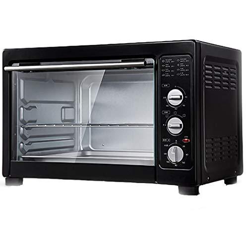 Mini panera para horno de pizza, capacidad de 38 L, control de temperatura 70 ° -230 °C 0-120 1800 W, tres modos de calentamiento halógeno, horno a cono, 220 V
