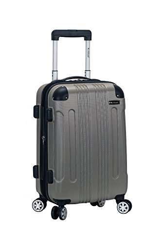 Rockland London Hardside Spinner Wheel Luggage, Silver, Carry-On 20-Inch