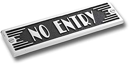 The Metal Foundry No Entry Metal Door Sign. Art Deco Style Home Décor Accessories Door Or Wall Aluminium Plaque. Handmade in England.