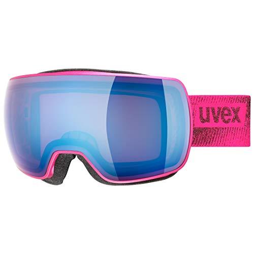 uvex Unisex– Erwachsene, compact FM Skibrille, pink mat, one size