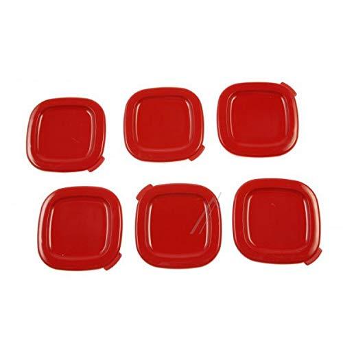 Couvercles (x6) Pots Yaourt rouge Multi délices (SS-1530000653)