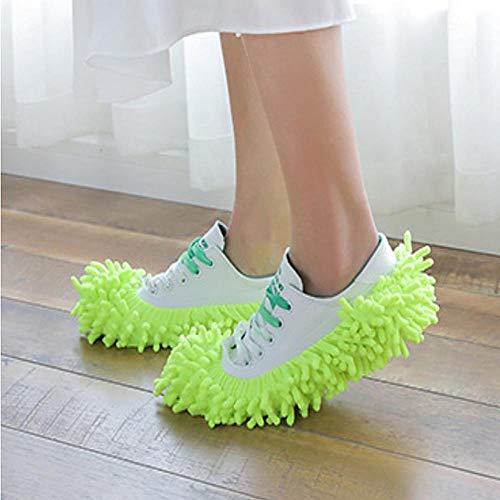 PONNMQ Pantofole Multiuso per spolverino per la Polvere Copriscarpe Calzini Lavabili riutilizzabili in Microfibra Piedi Copriscarpe, Viola
