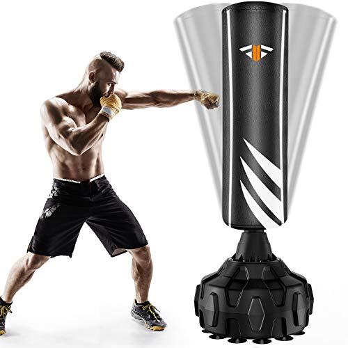 Boxsack Standboxsäcke Trainingsgeräte Erwachsene Freistehender Standboxsack, MMA Boxpartner Boxing Trainer Hochleistungs-Boxsack mit Saugfuß, Punchingsäcke für Anfänger, Erwachsene, Jugendliche