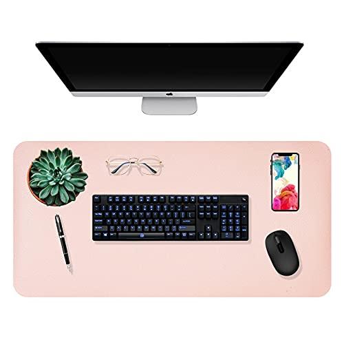 Yizhet Alfombrilla de Escritorio, Estera del Escritorio de Oficina de Doble Cara Rosa Almohadilla de Escritorio Impermeable Alfombrilla Ratón Grande para Gamers Ordenador PC Laptop (XL, 40 x 80cm)