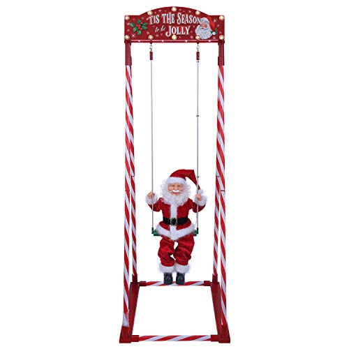 Mr. Christmas 68081 Swinging Santa Holiday Decoration, One Size, Multi