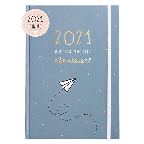 Odernichtoderdoch Kalender 2021 \'Auf ins nächste Abenteuer\' - Hardcover Terminkalender, 14,8 cm x 21 cm (A5)