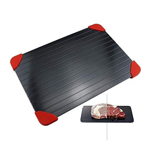 Wqzsffgg Schnelle Auftauplatte Aluminium-Abtautablett Schnellgefrorenes Geflügelfleisch Geflügel mit rutschfesten abnehmbaren Ecken (Color : M(29.5cm*20.3cm*0.2cm))