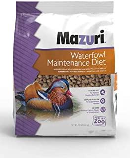 Mazuri Waterfowl Maintenance Floating Diet for Ducks, Swans, Geese 12 Pounds