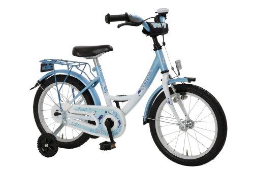 Bachtenkirch Kinder Fahrrad DOLFY Kinderfahrrad, weiß/eis-Blau, 18 Zoll