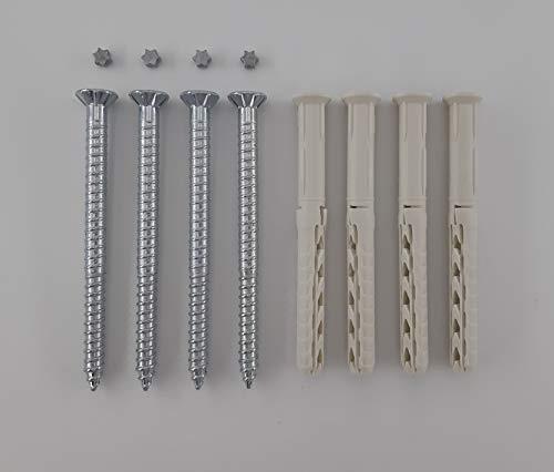4 Sicherheitsschrauben 6 x 80 mm für Fenstergitter inkl. Dübel & Pin