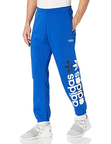 adidas Originals Pantalones deportivos de granja para hombre - azul - Small